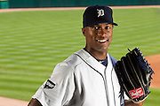 6/2/2011 - Detroit, Mich. -- Portrait shoot of Detroit Tigers centerfielder Austin Jackson at Comerica Park for story on tough aspects of ballparks around the country.