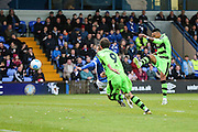 Forest Green Rovers Keanu Marsh-Brown(7) shoots at goal during the Vanarama National League match between Macclesfield Town and Forest Green Rovers at Moss Rose, Macclesfield, United Kingdom on 12 November 2016. Photo by Shane Healey.