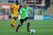 Forest Green Rovers Isaac Pearce(17) drives forward during the Pre-Season Friendly match between Torquay United and Forest Green Rovers at Plainmoor, Torquay, England on 10 July 2018. Picture by Shane Healey.