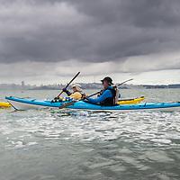 Kayakkers on  San Francisco Bay