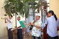 Musicians in a restaurant in Havana, Cuba.