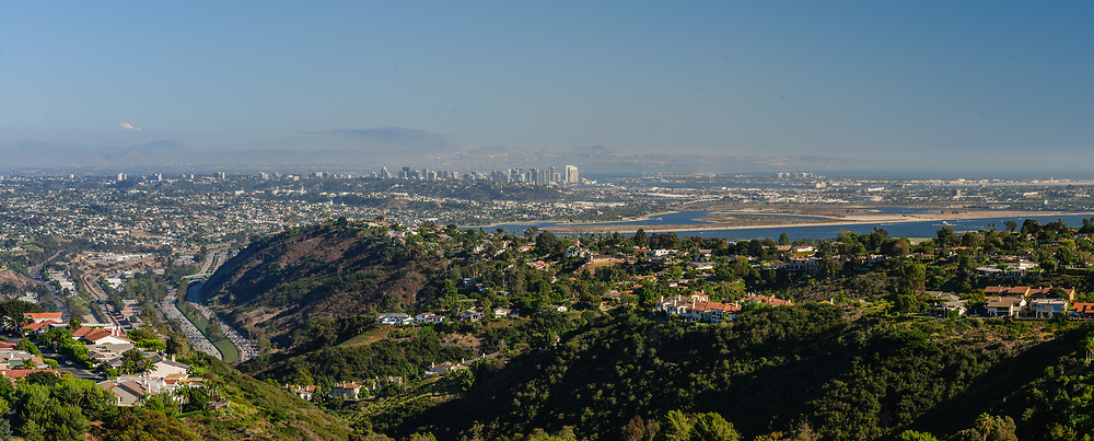 View From Mount Soledad, a prominent landmark in the city of San Diego, California