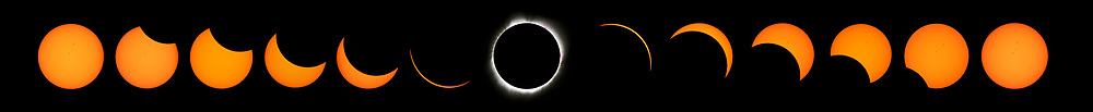 August 21, 2017 - Weiser, Idaho, U.S - A series of images of the total solar eclipse viewed from Memorial Park in Weiser, Idaho, on Monday, August 21, 2017. (Credit Image: © L.E. Baskow via ZUMA Wire)