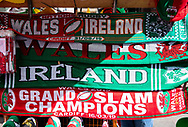 A general view outside the stadium banner, flag<br /> <br /> Photographer Simon King/Replay Images<br /> <br /> Friendly - Wales v Ireland - Saturday 31st August 2019 - Principality Stadium - Cardiff<br /> <br /> World Copyright © Replay Images . All rights reserved. info@replayimages.co.uk - http://replayimages.co.uk