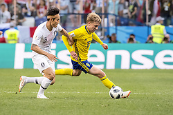 June 18, 2018 - Nizhny Novgorod, Russia - Emil Forsberg..2018 FIFA World CUP, Sweden - South Korea, 1-0, Nizhny Novgorod Stadium, Russia, 2018-06-18..(c) ORRE PONTUS  / Aftonbladet / IBL BildbyrÃ¥....* * * EXPRESSEN OUT * * *....AFTONBLADET / 85527 *** Local Caption  (Credit Image: © Orre Pontus/Aftonbladet/IBL via ZUMA Wire)