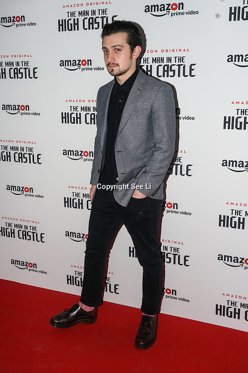 Craig Roberts attend the European Premiere of Season 2 of The Man in the High Castle, available on Amazon Prime video Friday December 16 2016 at Curzon Bloomsbury on 14th December 2016, London,UK. Photo by See Li