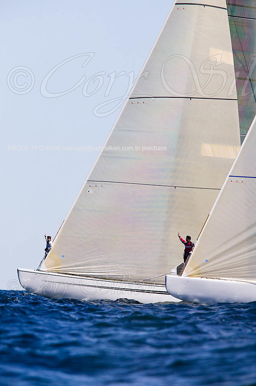KZ 7 and KZ 3 Wright on White, Grand Prix class at the 12 Meter Class North American Championship
