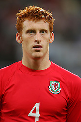 CARDIFF, WALES - Wednesday, September 8, 2004: Wales' James Collins lines-up before the Group Six World Cup Qualifier against Northern Ireland at the Millennium Stadium. (Pic by David Rawcliffe/Propaganda)
