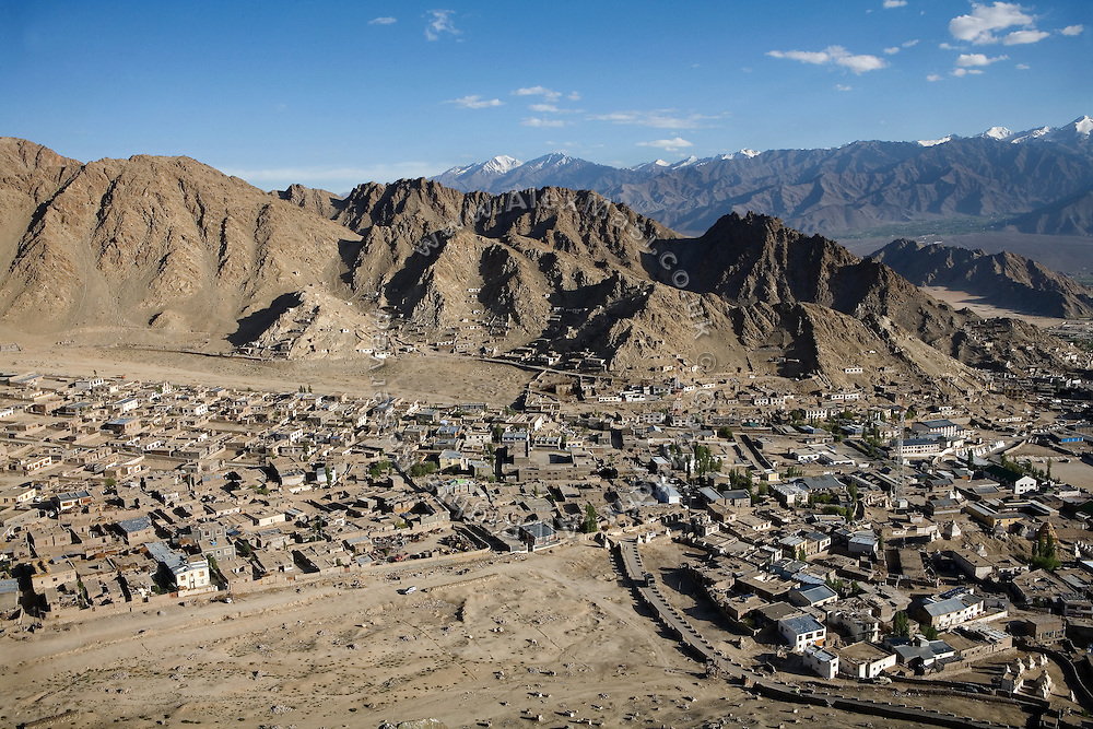 A view of a recently constructed section of Leh where migrants or itinerant workers from nearby villages move to in search for better economic conditions.