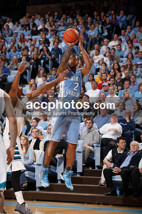 CHAPEL HILL, NC - DECEMBER 31: Leslie McDonald #2 of the North Carolina Tar Heels plays the UNC Wilmington Seahawks on December 31, 2013 at the Dean E. Smith Center in Chapel Hill, North Carolina. North Carolina defeated UNC Wilmington 84-51. (Photo by Peyton Williams/UNC/Getty Images) *** Local Caption *** Leslie McDonald