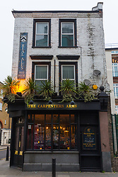 The Carpenters Arms Cheshire Street in East London's Bethnal Green was once the scene of frivolous parties hosted by Reggie and Ronnie Kray, who dominated the capital's criminal underworld in the 50s and 60s. In 1967 they bought the pub for their mother, two years before they were given life sentences for their crimes. LONDON, January 10 2019.
