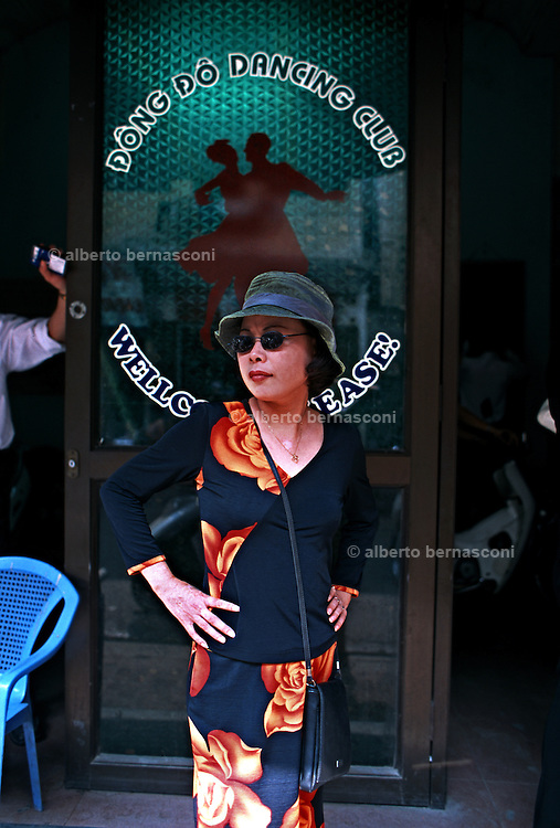 Vietnam, Hanoi: outside a dance hall.