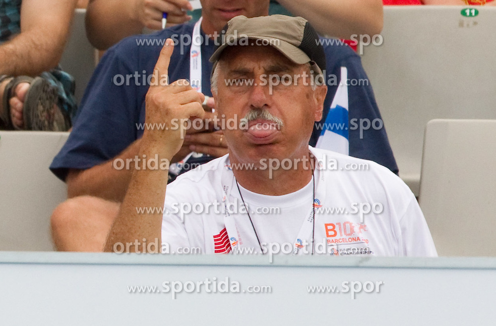 Coach Slavko Cerne during the Mens Pole Vault Qualifying during day three of the 20th European Athletics Championships at the Olympic Stadium on July 29, 2010 in Barcelona, Spain.  (Photo by Vid Ponikvar / Sportida)