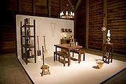 Modern design version of traditional farm home interior Zuiderzee museum, Enkhuizen, Netherlands