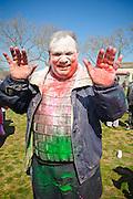 A man at Phagwah in Richmond Hills, Queens..March 20, 2011