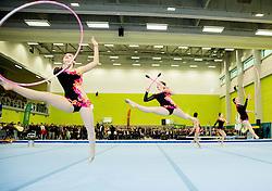 Rythmic gymnasts during Grand Opening of new Ljubljana Gymnastics centre Cerar-Pegan-Petkovsek, on November 26, 2015 in Ljubljana, Slovenia. Photo by Vid Ponikvar / Sportida