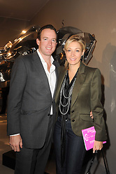 VIP reception of the Pavilion of Art & Design London 2010 held in Berkeley Square, London on 12th October 2010.<br /> Picture Shows:-RUPERT ADAMS and his wife NADJA SWAROVSKI.