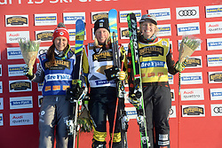 13.01.2018, Idre Fjall, Idre, SWE, FIS Weltcup Ski Cross, Idre Fjall, im Bild Mariella Berger, Fra, Sandra Näslund SWE and India Sherret, Can // during the FIS Ski Cross World Cup at the Idre Fjall in Idre, Sweden on 2018/01/13. EXPA Pictures © 2018, PhotoCredit: EXPA/ Nisse Schmidt<br /> <br /> *****ATTENTION - OUT of SWE*****