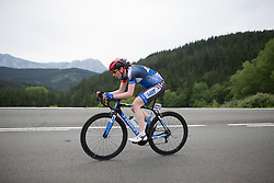 Rebecca Rimmington (GBR) of Team WNT attacks in the third lap of the Durango-Durango Emakumeen Saria - a 113 km road race, starting and finishing in Durango on May 16, 2017, in the Basque Country, Spain.