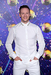 Kevin Clifton arriving at the red carpet launch of Strictly Come Dancing 2019, held at BBC TV Centre in London, UK.