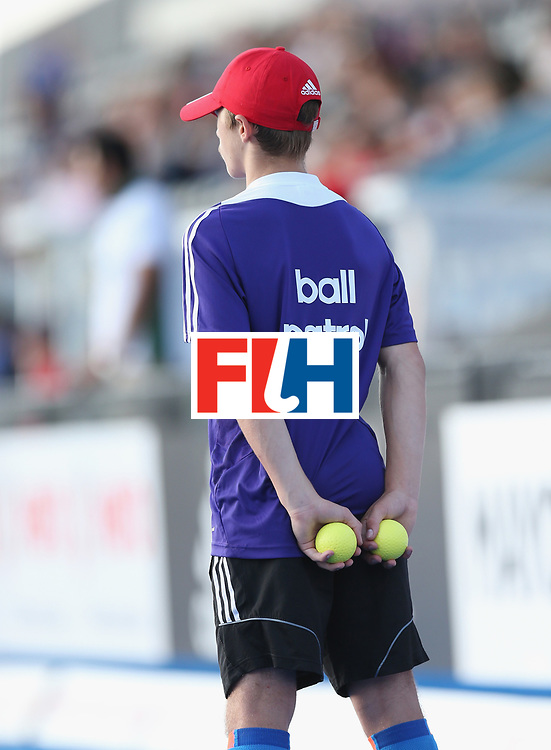 LONDON, ENGLAND - JUNE 16: Ball Patrol during the Hero Hockey World League semi final match between Pakistan and Canada at Lee Valley Hockey and Tennis Centre on June 16, 2017 in London, England.  (Photo by Alex Morton/Getty Images)