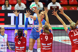 24-04-2016 ITA: Nordmeccanica Piacenza - Foppapedretti Bergamo, Piacenza<br /> Piacenza wint de laatste wedstrijd in the best of three serie met 3-1 en plaatst zich voor de finale / INDRE SOROKAITE<br /> <br /> ***NETHERLANDS ONLY***