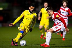 Alex Jakubiak of Bristol Rovers takes on Danny Andrew of Doncaster Rovers - Mandatory by-line: Robbie Stephenson/JMP - 26/03/2019 - FOOTBALL - Keepmoat Stadium - Doncaster, England - Doncaster Rovers v Bristol Rovers - Sky Bet League One