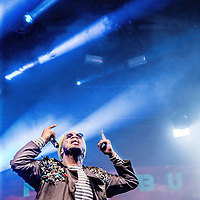 Nederland, Amsterdam, 2 juli 2016.<br /> De uit de Amerikaanse West-Coast, hiphopper, dj en rapper Anderson.Paak tijdens het Pitch Festival in Westerpark.<br /> <br /> Netherlands, Amsterdam, July 2, 2016.<br /> DJ and rapper Anderson.Paak from the US West Coast during the Pitch Festival in Westerpark.<br /> <br /> Foto: Jean-Pierre Jans
