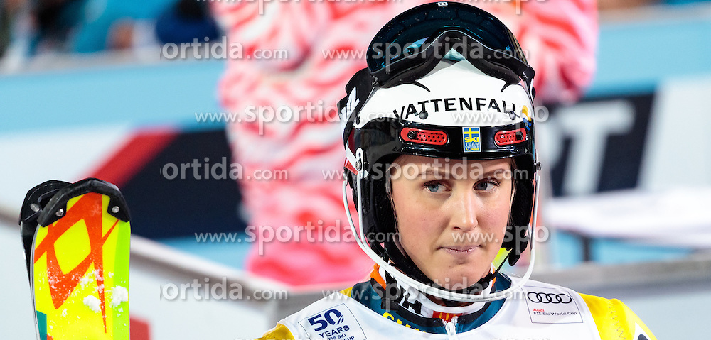 10.01.2017, Hermann Maier Weltcupstrecke, Flachau, AUT, FIS Weltcup Ski Alpin, Flachau, Slalom, Damen, 2. Lauf, im Bild Emelie Wikstroem (SWE) // Emelie Wikstroem of Sweden reacts after her 2nd run of ladie's Slalom of FIS ski alpine world cup at the Hermann Maier Weltcupstrecke in Flachau, Austria on 2017/01/10. EXPA Pictures © 2017, PhotoCredit: EXPA/ Johann Groder