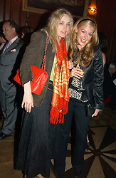 Left to right, BAY GARNETT and CAT DEELEY at a party hosted by jewellers Adler to celebrate 20 years in London held at 5 Cavendish Square, London on 4th May 2005.<br />