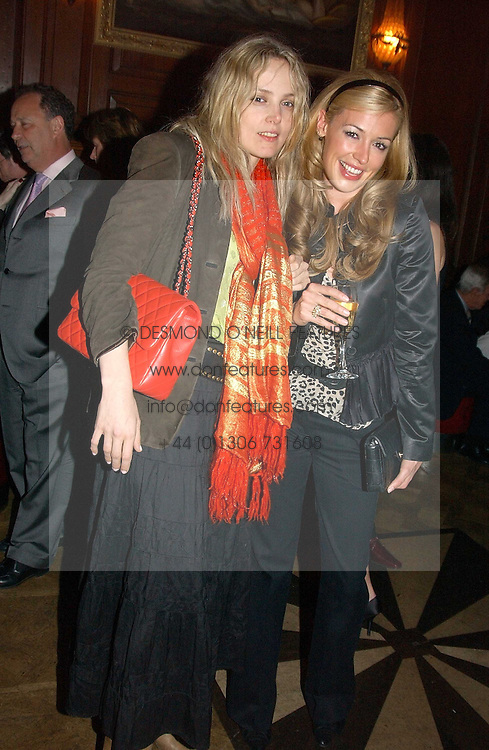 Left to right, BAY GARNETT and CAT DEELEY at a party hosted by jewellers Adler to celebrate 20 years in London held at 5 Cavendish Square, London on 4th May 2005.<br /><br />NON EXCLUSIVE - WORLD RIGHTS