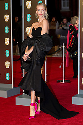 © Licensed to London News Pictures. 18/02/2018. TATIANA KORSAKOVA arrives on the red carpet for the EE British Academy Film Awards 2018, held at the Royal Albert Hall, London, UK. Photo credit: Ray Tang/LNP