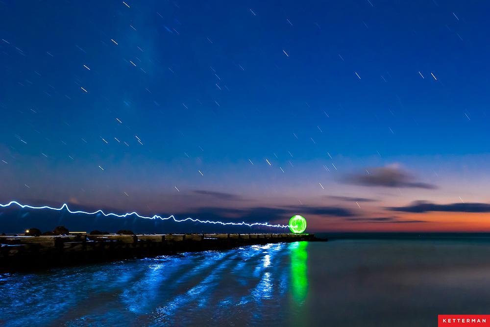 Dusk turns to night at Bradenton Beach