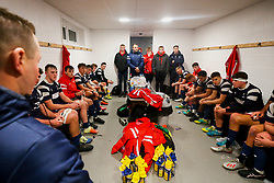 General View in the Bristol Bears U18 dressing room after a loss - Rogan/JMP - 19/12/2019 - RUGBY UNION - Newlands Park - Cheltenham, England - Gloucester Rugby U18 v Bristol Bears U18 - Premiership Rugby U18 Academy League.