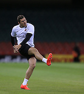 Alex Goode of Saracens pictured during training ahead of the Heineken Cup Final at the Millennium Stadium, Cardiff<br /> Picture by Michael Whitefoot/Focus Images Ltd 07969 898192<br /> 24/05/2014