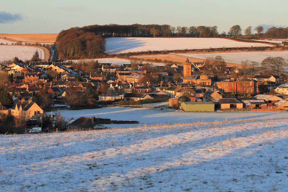 Village of Chirnside, Berwickshire in the Scottish Borders of an early Winters evening.