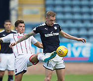 August 5th 2017, Dens Park, Dundee, Scotland; Scottish Premiership; Dundee versus Ross County; Dundee's Kevin Holt and Ross County's Christopher Routis