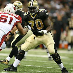 2007 December, 16: New Orleans Saints offensive tackle Jammal Brown (70) in action during a 31-24 win by the New Orleans Saints over the Arizona Cardinals at the Louisiana Superdome in New Orleans, LA.
