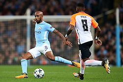 Fabian Delph of Manchester City and Fred of Shakhtar Donetsk - Mandatory by-line: Matt McNulty/JMP - 26/09/2017 - FOOTBALL - Etihad Stadium - Manchester, England - Manchester City v Shakhtar Donetsk - UEFA Champions League Group stage - Group F