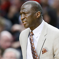 06 December 2013: Utah Jazz head coach Tyrone Corbin reacts during the Portland Trail Blazers 130-98 victory over the Utah Jazz at the Moda Center, Portland, Oregon, USA.