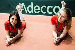 Adecco girls during Day 2 of the Davis Cup Slovenia vs Monaco competition, on February 4, 2017 in Tennis Arena Tabor, Maribor Slovenia. Photo by Vid Ponikvar / Sportida