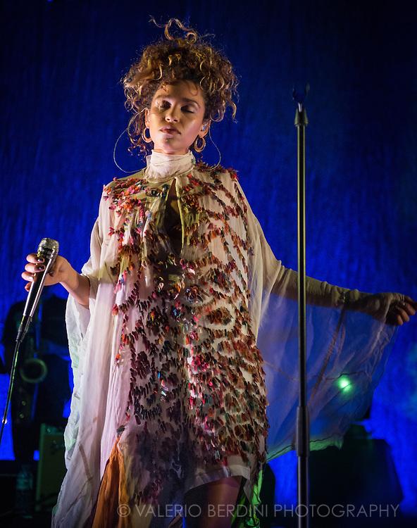 Singer Izzy Bizu performing  live at Koko theatre in London on 14 September 2016