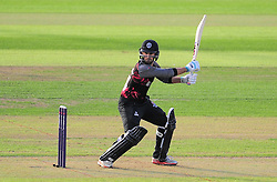 Lewis Gregory of Somerset in action.  - Mandatory by-line: Alex Davidson/JMP - 22/07/2016 - CRICKET - Th SSE Swalec Stadium - Cardiff, United Kingdom - Glamorgan v Somerset - NatWest T20 Blast
