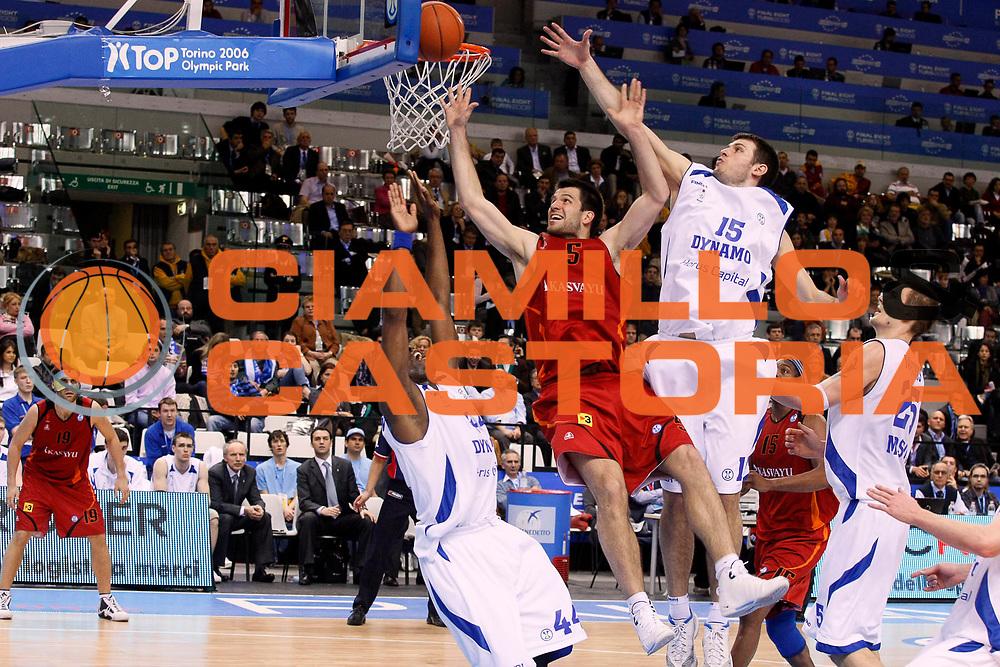 DESCRIZIONE : Torino Uleb Cup 2007-08 Final Eight Semifinale Dynamo Moscow Akasvayu Girona<br /> GIOCATORE : Branko Cvetkovic<br /> SQUADRA : Akasvayu Girona<br /> EVENTO : Uleb 2007-2008 <br /> GARA : Dynamo Moscow Akasvayu Girona <br /> DATA : 12/04/2008 <br /> CATEGORIA : Tiro<br /> SPORT : Pallacanestro <br /> AUTORE : Agenzia Ciamillo-Castoria/G.Cottini