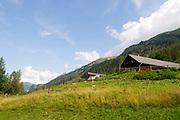 Austria, Tyrol, Hohe Tauern National Park Grossglockner High Alpine Road farmhouse
