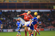 Matt Lund, George Evans during the Sky Bet League 1 match between Walsall and Rochdale at the Banks's Stadium, Walsall, England on 2 January 2016. Photo by Daniel Youngs.