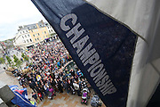 Champions flag on the balcony - Dundee FC civic reception at Dundee City Chambers<br /> <br />  - &copy; David Young - www.davidyoungphoto.co.uk - email: davidyoungphoto@gmail.com