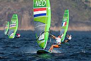 2016 Olympic Sailing Games-Rio-Brazil, ANP Copyright Thom Touw, Olympische Spelen Zeilen, rw-NED- Lilian De Geus- RSX Woman, dag 2, race 2, resultaat 3de