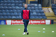 13th July 2019,  Starks Park, Kirkcaldy, Scotland; Scottish League Cup football, Raith Rovers versus Dundee; Dundee manager James McPake inspects the pitch before the match