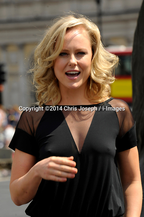 Image ©Licensed to i-Images Picture Agency. 02/07/2014. London, United Kingdom. Ingrid Bolso Berdal attends a photocall for 'Hercules' at Trafalgar Square. Picture by Chris Joseph / i-Images